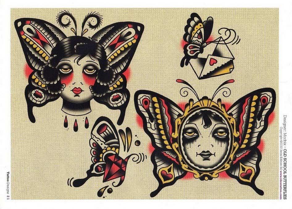 Sketchbook Flowers & butterflies tattoo