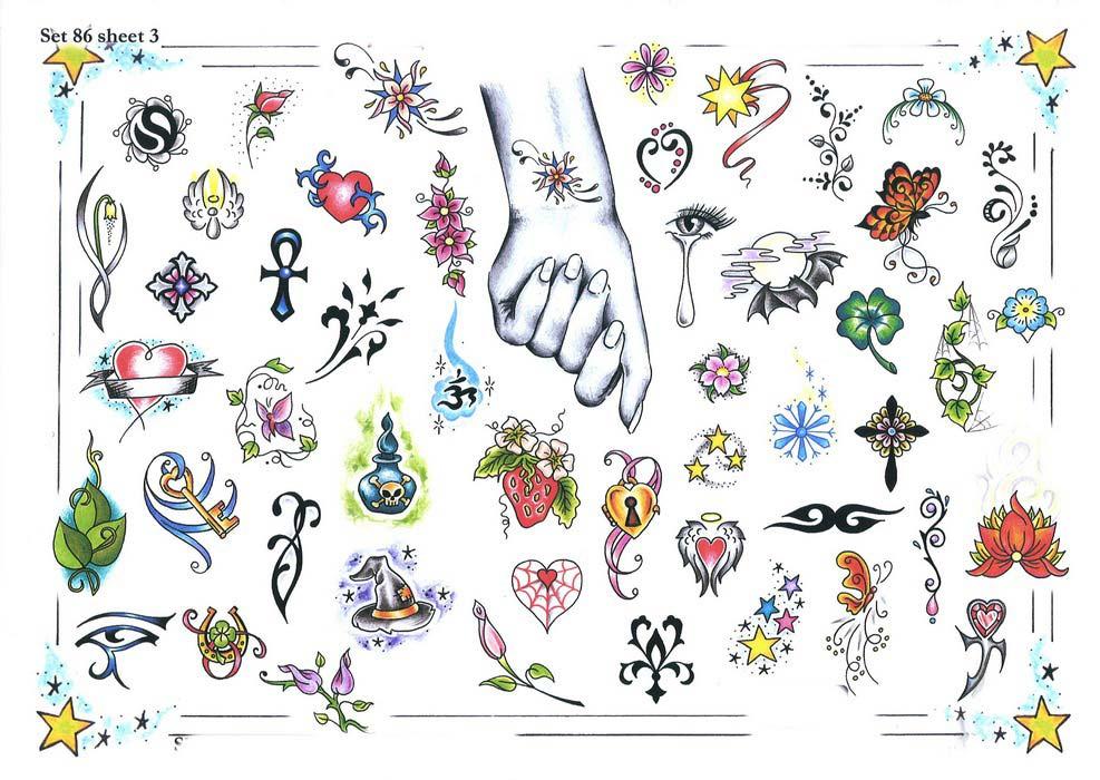 Флеши маленьких татуировок. Эскизы женских тату.