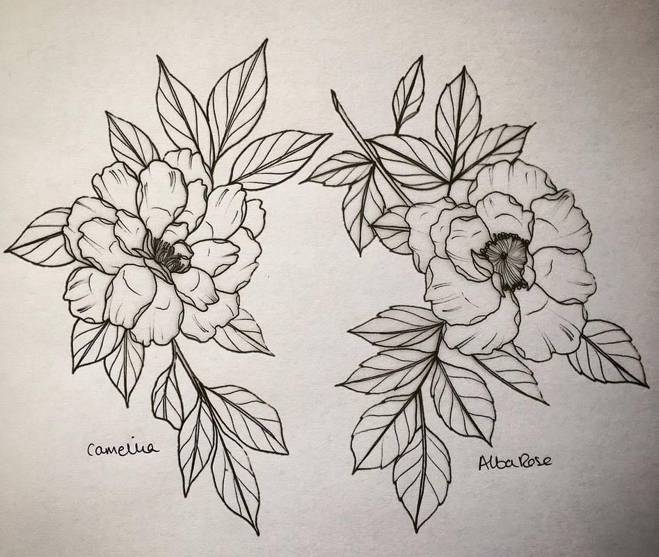 Эскизы татуировки Цветы. Lydia Hazelton (England).
