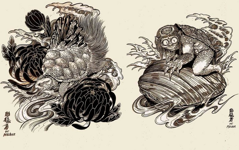 Japanese Designs by Horimouja Jack Mosher | Tattoo Flash Book (2)