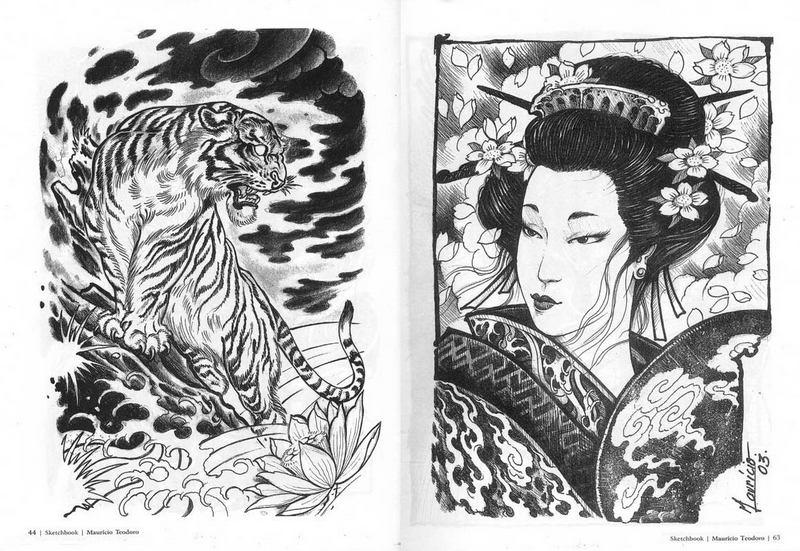 Sketchbook Mauricio Teodoro. Japanese Tattoo Designs.