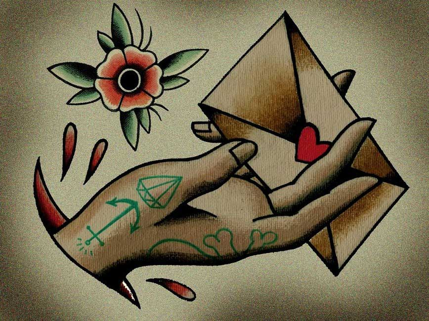 Tattoo Flash Old School by Quyen Dinh