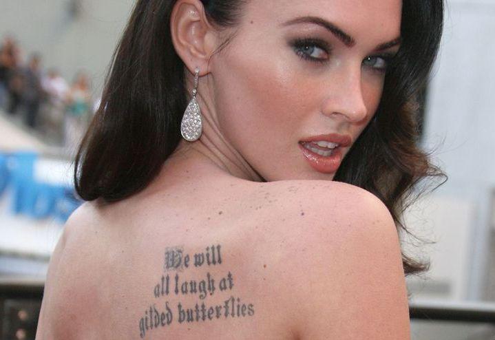 Татуировки Меган Фокс | Фото и значения тату Меган Фокс