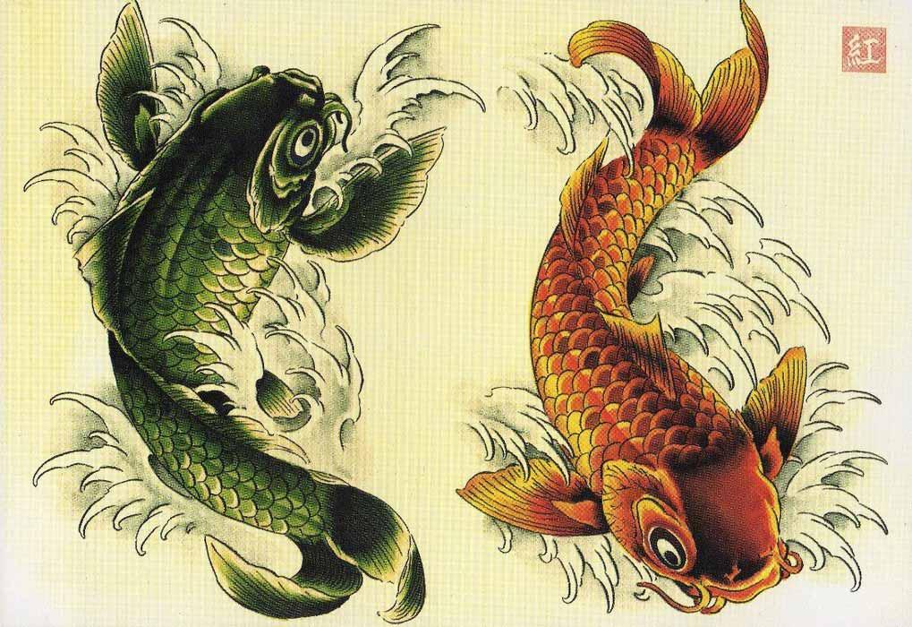 Карп Кои Эскизы татуировки