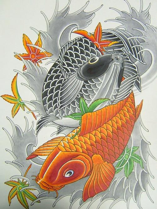 Карп Кои. Japanese tattoo designs