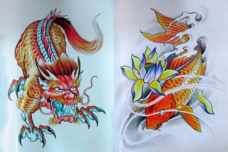 A Liang  sketchbook | Japanese Tattoo Designs