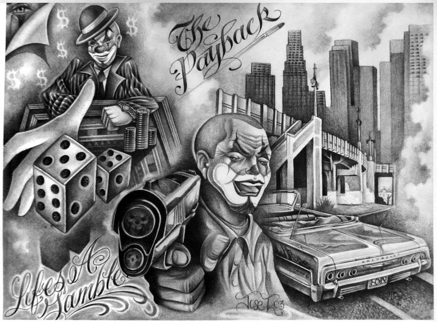 Lowrider Flashbook | Chicano tattoo