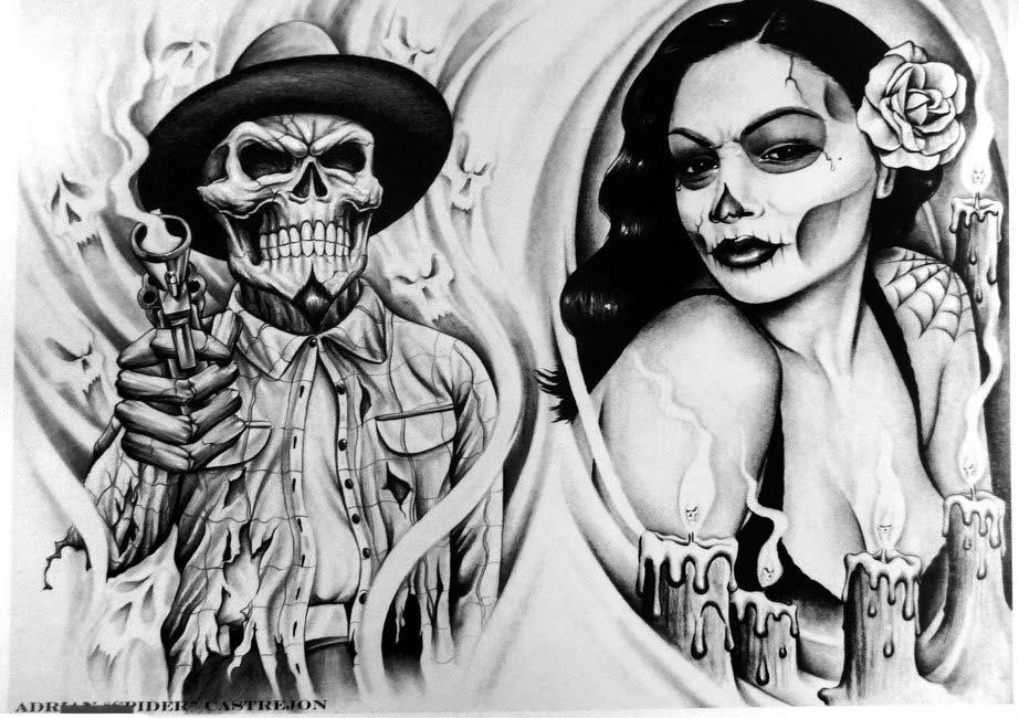 Lowrider Flashbook | Chicano tattoo