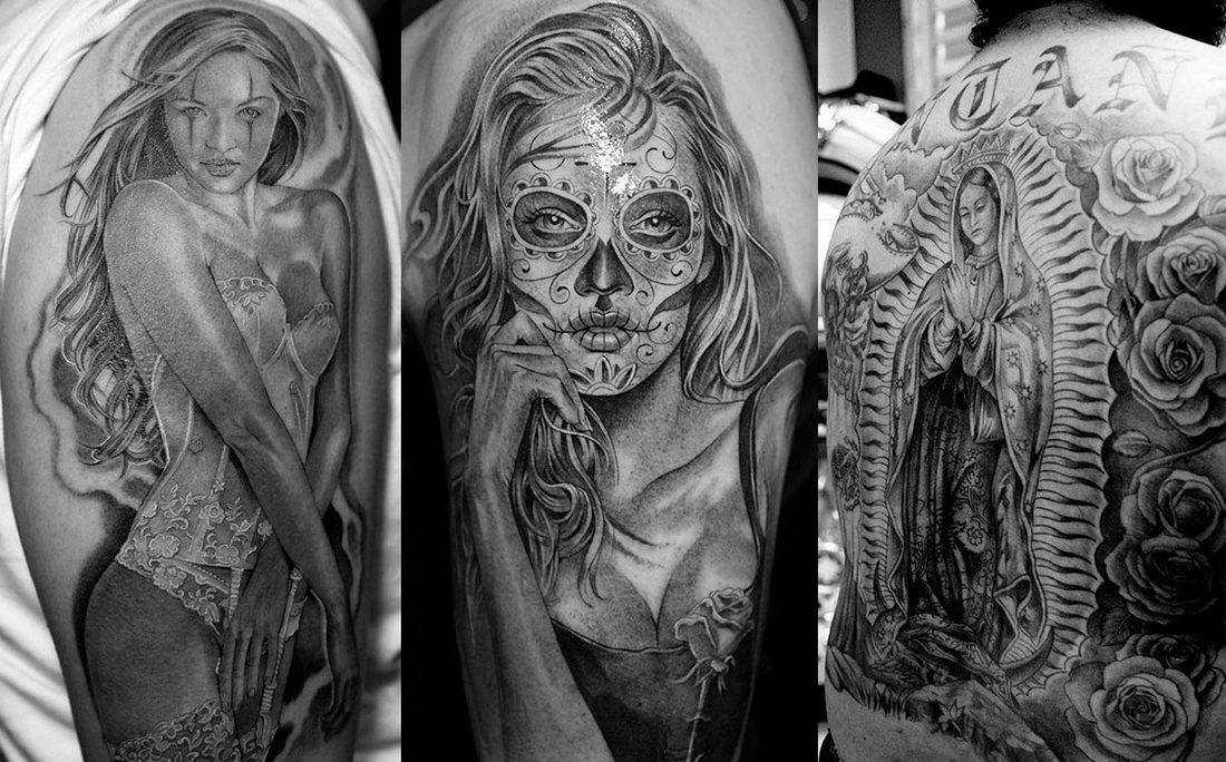 Чикано тату. Значения, фото и эскизы татуировок в стиле чикано.