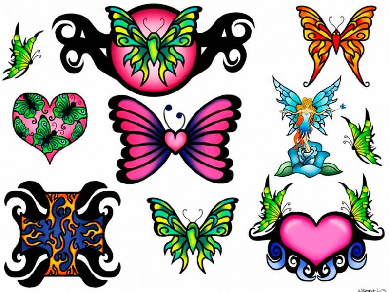 флеши татуировки бабочка