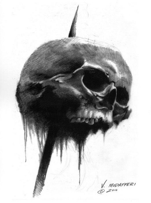 Эскизы татуировки Череп