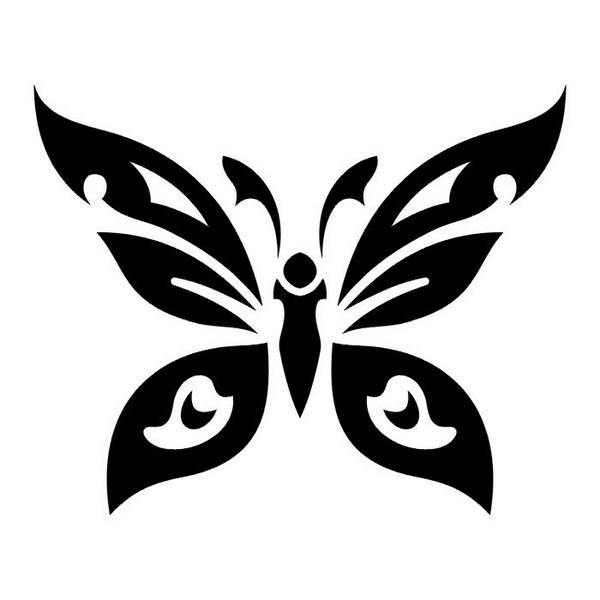 Butterfly tribal tattoo designs