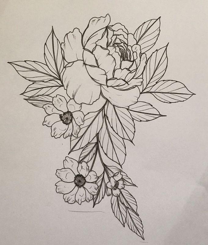 тату цветы