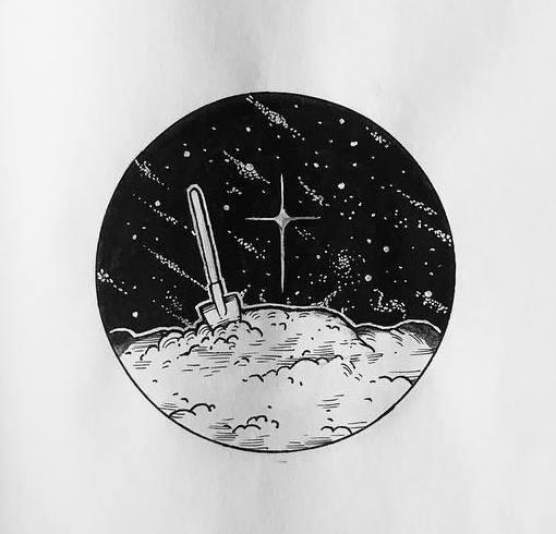 Тату космос эскизы
