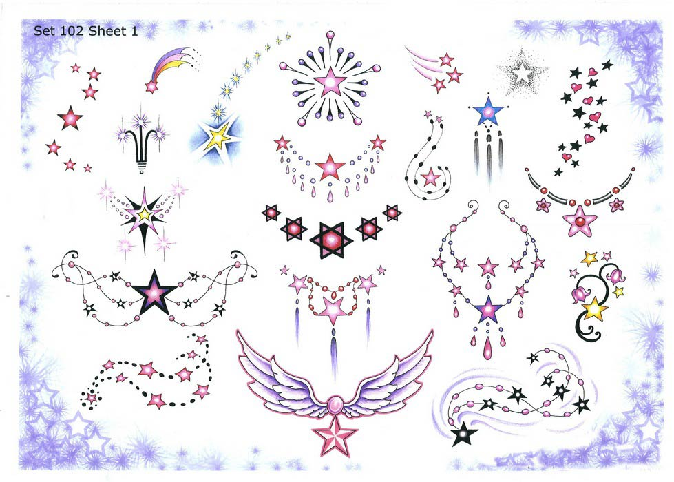 Эскизы татуировки звезда