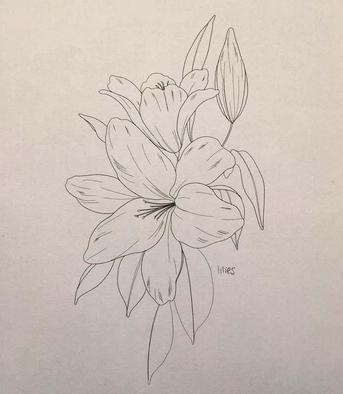Эскизы татуировки Цветы