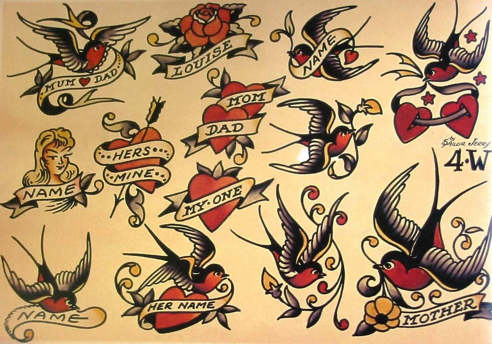 Эскизы татуировок Олд Скул
