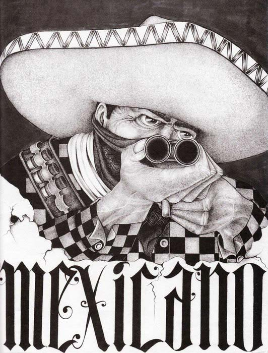 "Sketchbook ""Mouse"" Lopez - A Vision From The Inside. Chicano tattoo."