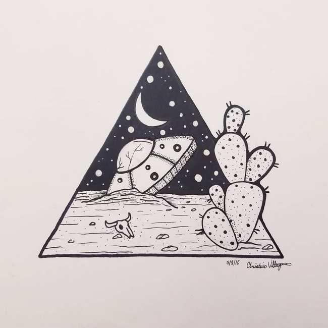 Эскизы тату в стиле дотворк, геомеория, лайнворк.