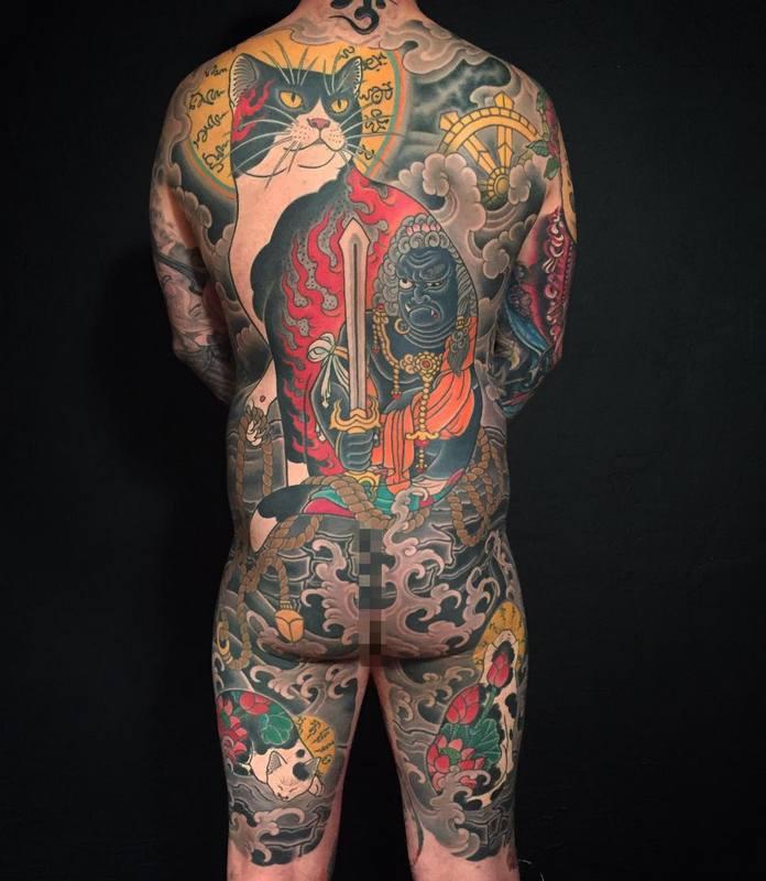 японское тату фото