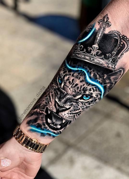 Татуировка Портрет на предплечье руки