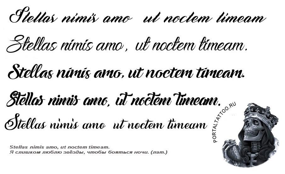 Фразы на латыни для тату