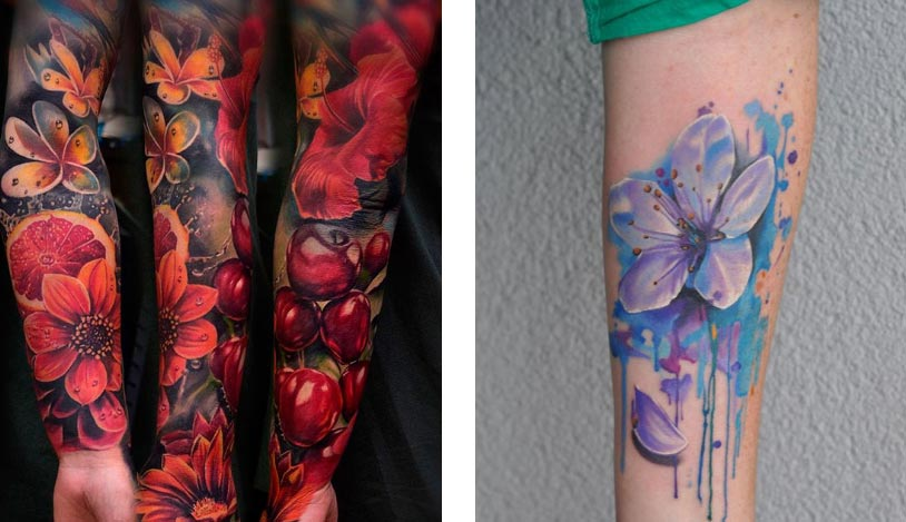 значение татуировки Цветы
