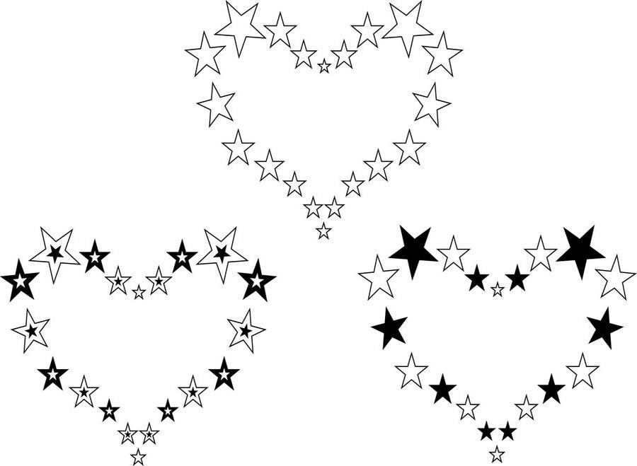 Эскизы татуировки звезда, звёздочки. Stars Tattoo desings.
