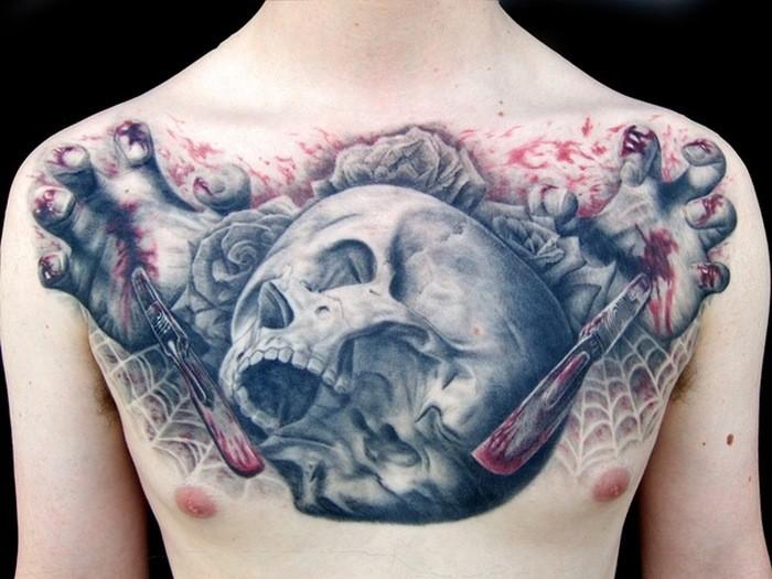 Тату Череп фото | Skull tattoos.