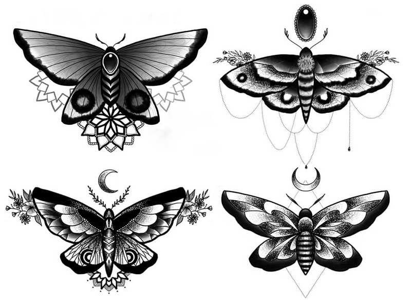 Эскизы тату Бабочка | Butterfly tattoo designs.