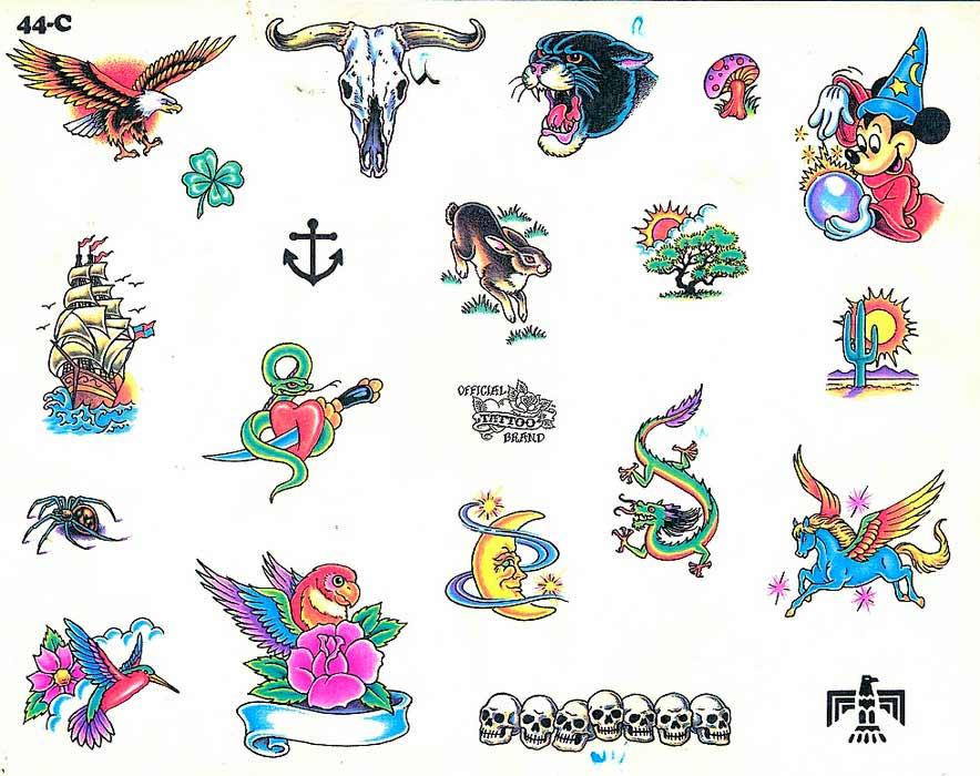 Эскизы в стиле Олд Скул. Tattoo Flash by Official Tattoo Brand.