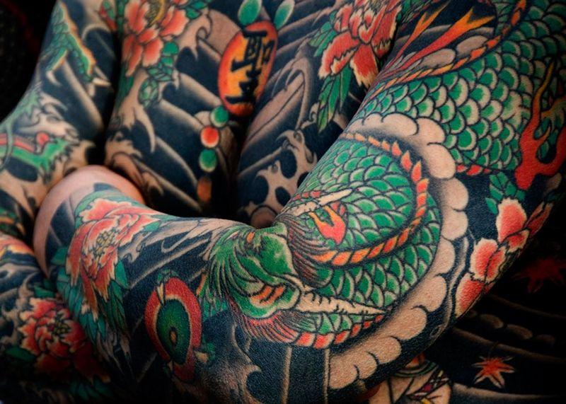 Значения японских татуировок | Тату змея | Тату тигр  | Тату Ястреб