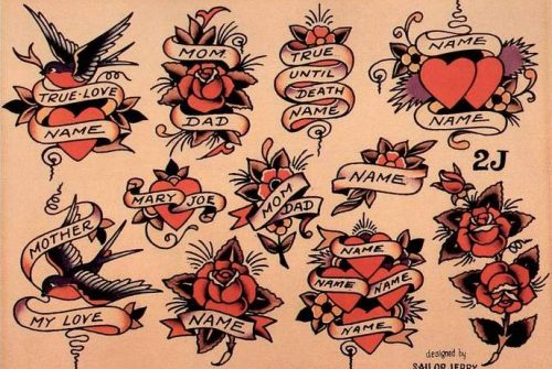 Олд Скул эскизы. Sailor Jerry Tattoo Flash Volume 2