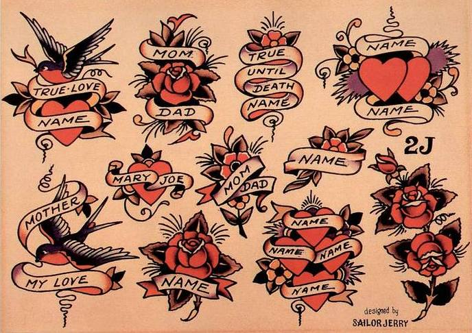 Олд Скул эскизы. Sailor Jerry Tattoo Flash Volume 2.