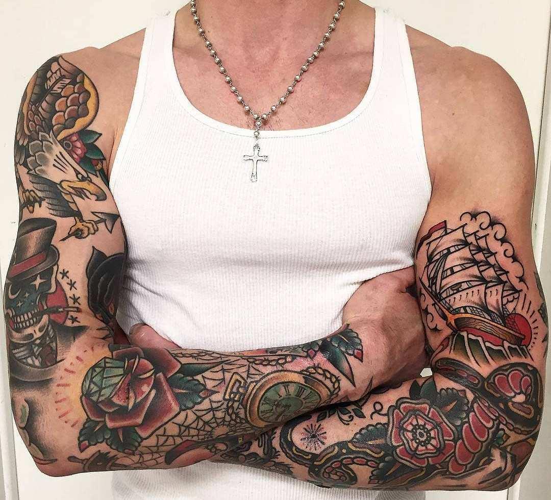 Тату Oлд Cкул | Татуировки Old school | Значение и фото
