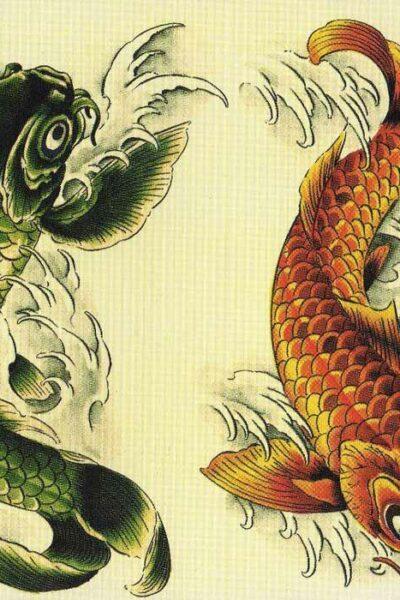 Карп Кои  Эскизы татуировки| Japanese Tattoo Designs