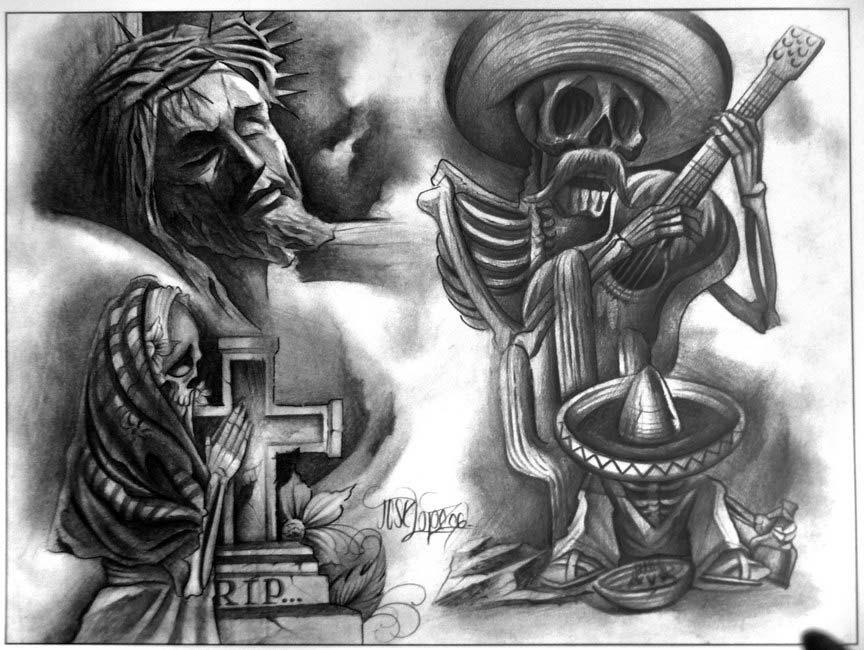 Lowrider Flashbook   Chicano tattoo