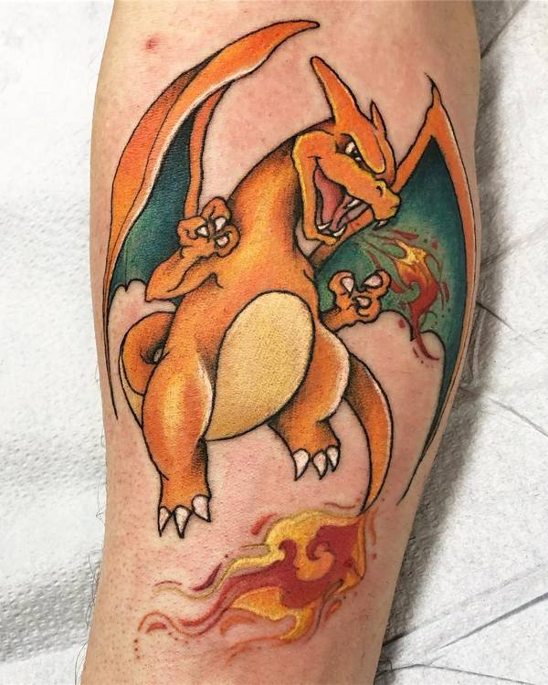 Татуировка дракон Нью Скул