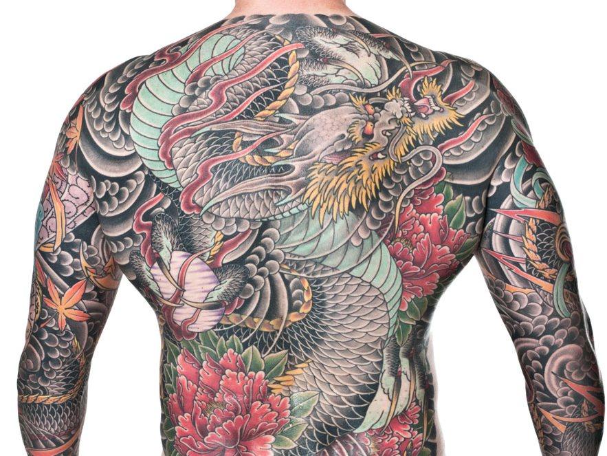 фото тату дракона в Японском стиле