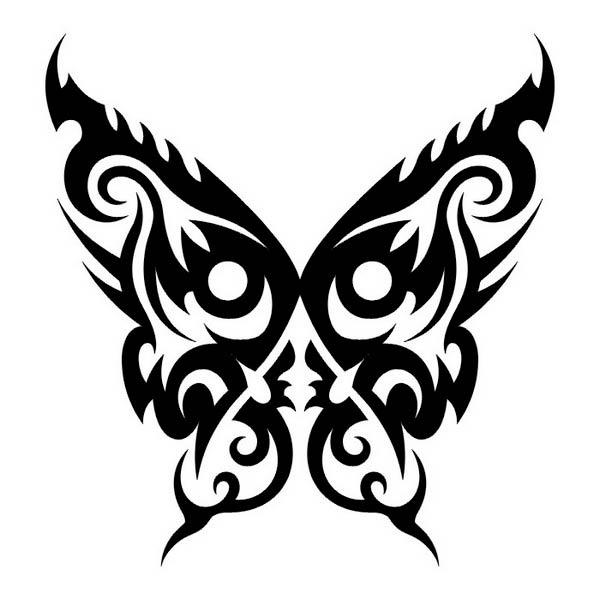 Эскизы татуировки Бабочка в стиле Трайбл