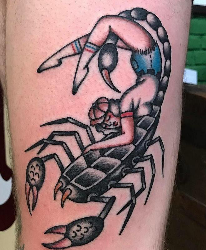 Тату скорпион фото