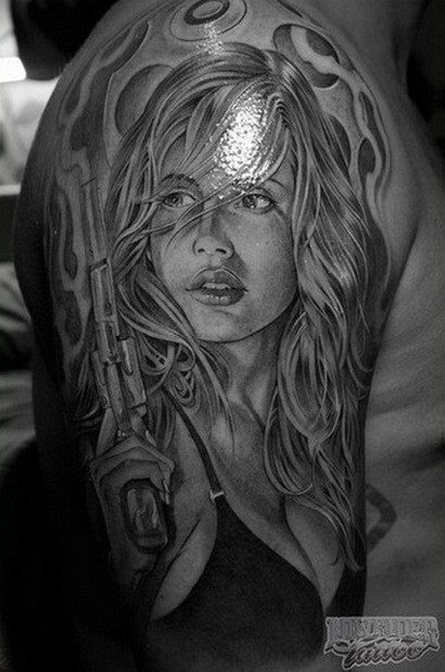 Фотографии татуировок в стиле Chicano