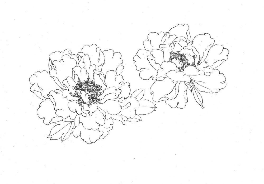 Эскизы татуировок цветы  в японском стиле