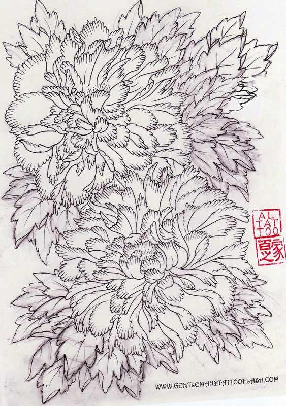Эскизы тату Цветы