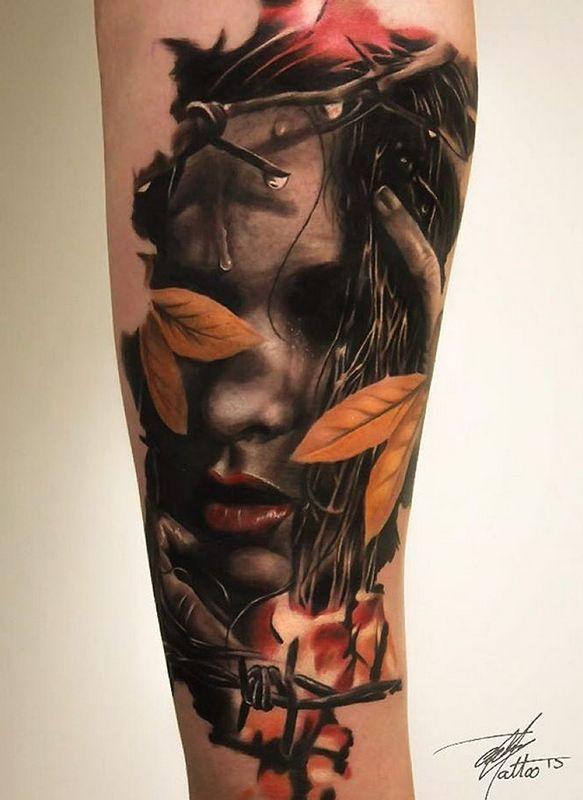 Реалистичная татуировка