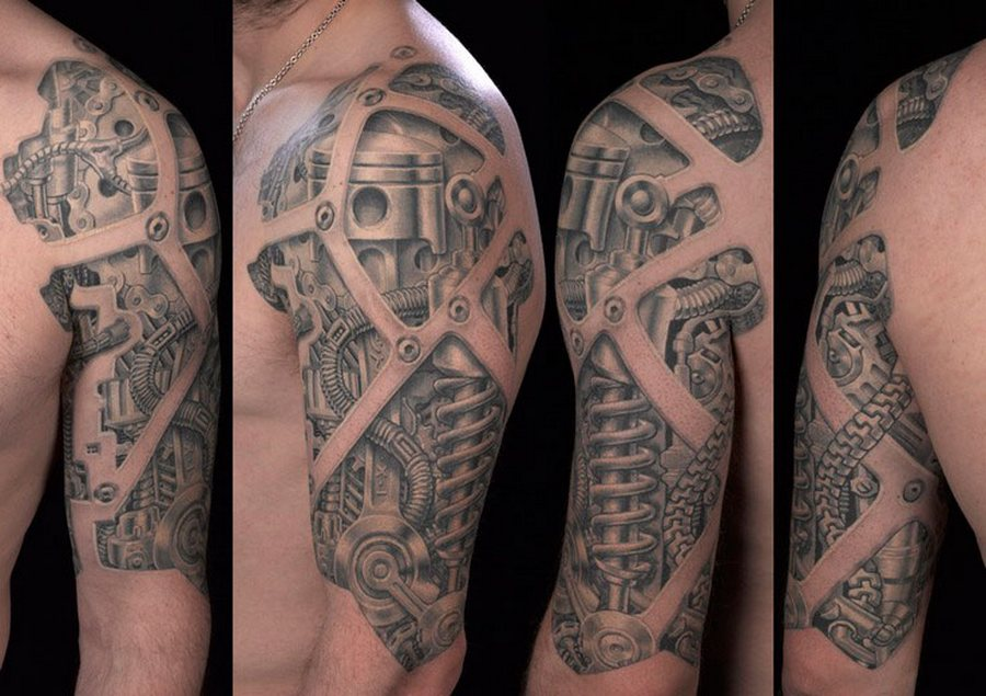 Фото татуировок в стиле Биомеханика
