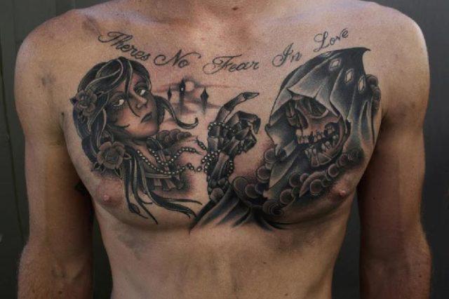 Татуировка маска – значение татуировки маска