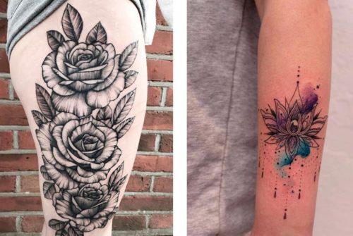 Татуировки Цветы – значение тату Цветок